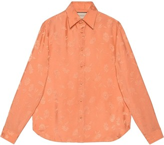 Gucci Embroidered Long-Sleeve Shirt