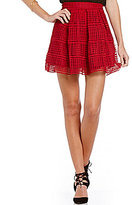 Freestyle Pleated Lace Skater Skirt