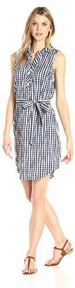 Foxcroft Women's Adele Crinkle Gingham Dress