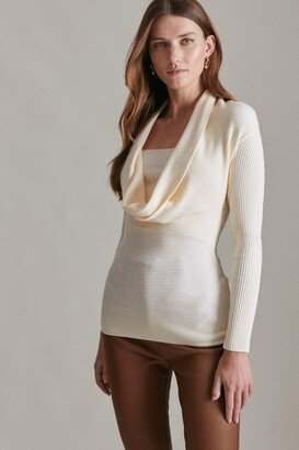 Karen Millen Cowl Neck Rib Knitted Jumper