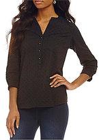 Westbound 3/4 Sleeve Clip Dot Shirt