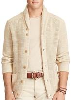 Polo Ralph Lauren Cotton Linen Shawl Collar Cardigan Sweater
