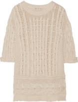 Autumn Cashmere Open-knit cotton sweater