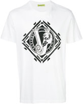 Versace logo print T-shirt - men - Cotton/Polyester/Spandex/Elastane - M