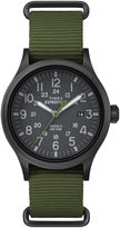 Timex Expedition Scout Mens Green Fabric Strap Watch