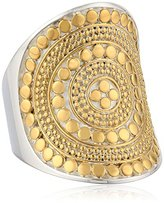 "Anna Beck Designs ""Gili Classic"" Lombok Long Gold Plated Beaded Saddle Ring, Size 8"