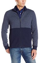 Perry Ellis Men's Classic Full Zip Herringbone Knit Jacket