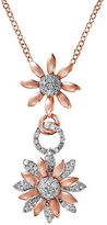 Effy 0.47 TCW Diamonds, 14K White Gold and 14K Pink Gold Floral Pendant Necklace