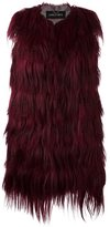Giorgio Brato long fit gilet - women - Goat Fur/Polyamide/Wool - 42