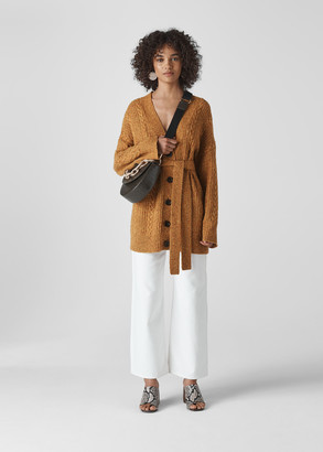 Oversized Cable Cardigan