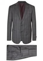 Pal Zileri Dark Grey Checked Wool Suit