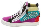 Giuseppe Zanotti Embellished High-Top Sneakers