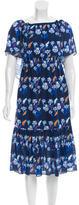 Tanya Taylor Abstract Print Overlay Dress