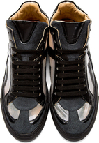 Maison Martin Margiela Black Cut-Out Iris High-Top Sneakers