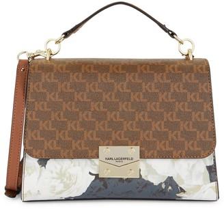 Karl Lagerfeld Paris Corinne Monogram Top Handle Shoulder Bag