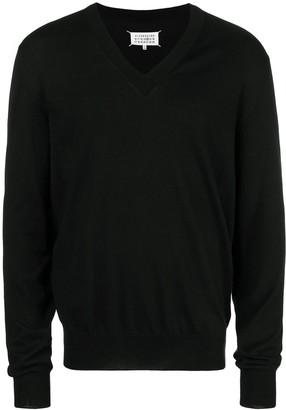 Maison Margiela Classic V-Neck Sweater