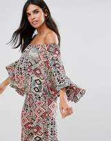 Rage Paisley Off Shoulder Floaty Top