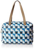 Orla Kiely Poppy Cat Print Zip Shopper Tote Bag
