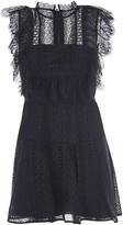 Self-Portrait Black Lace Panel Mini Dress