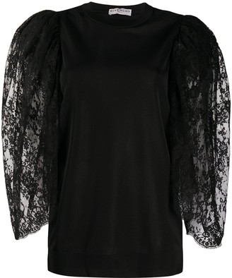 Givenchy Lace Sleeve Top