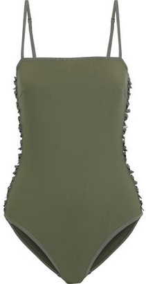 Zimmermann Cutout Bow-embellished Swimsuit