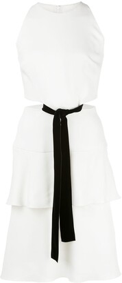 Proenza Schouler Sleeveless Cut Out Velvet Bow Dress