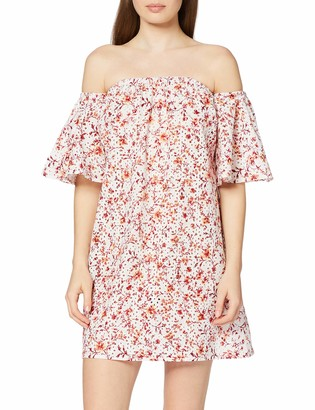 Find. Amazon Brand Women's Mini Floral Off-shoulder Dress