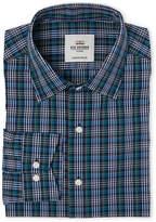 Ben Sherman Navy Plaid Tailored Slim Fit Dress Shirt