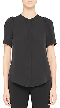 Theory Silk Ruched Blouse