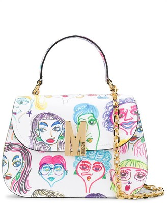 Moschino Faces-print top-handle bag