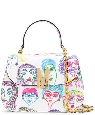 Moschino Faces-print top-handle bag
