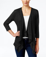 NY Collection Petite Waterfall Cardigan