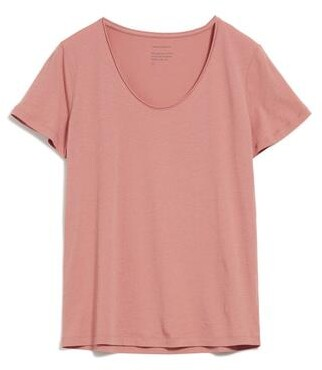 Armedangels Haadia Organic Cotton Pink T Shirt - S / Rose
