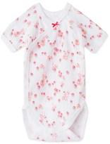 Petit Bateau Newborn baby girl printed bodysuit