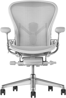 Herman Miller Aeron Office Chair, Mineral/Polished Aluminium