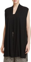 Eileen Fisher Drape Front Long Vest