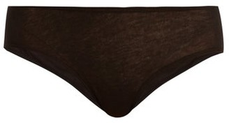 Skin - Organic-cotton Briefs - Womens - Black