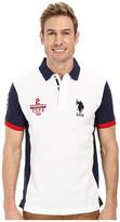 U.S. Polo Assn. Color Block Slim Fit Pique Polo