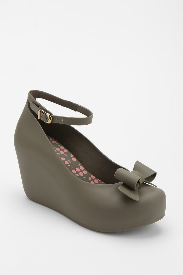 Urban Outfitters Mel By Melissa Shoes Toffee Bow Platform Wedge