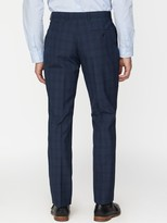 Jeff Banks Jeff Banks Check Soho Suit Trousers In Modern Regular Fit - Blue