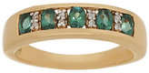 QVC As Is Alexandrite & Diamond Band Ring 14K Gold, 0.55 cttw