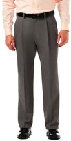 Haggar Cool 18 Pro Heather - Classic Fit, Pleat Front, Hidden Expandable Waistband