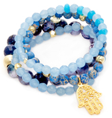Good Charma Hamsa Charm Bracelets (Set of 4 )