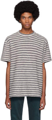Norse Projects Off-White Textured Stripe Johannes T-Shirt
