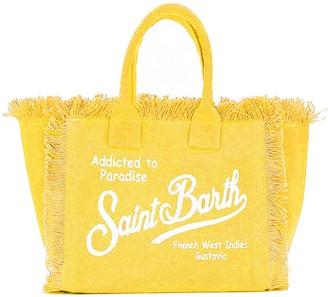 MC2 Saint Barth Yellow Canvas Beach Bag