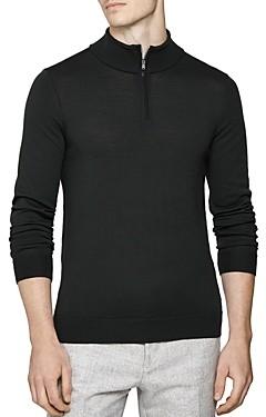 Reiss Blackhall Funnel Quarter-Zip Sweater