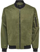 ONLY & SONS Faux Suede Bomber Jacket
