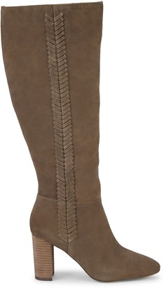 Charles by Charles David Benedict Stacked Heel Knee-High Suede Boots