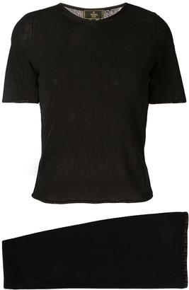 Fendi Pre Owned semi-sheer skirt and blouse set