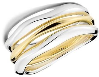 Ippolita Classico Two-Tone Squiggle Triple-Band Ring